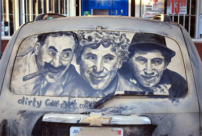 Unusual Dirty Car Art by Scott Wade – 19 June 2012