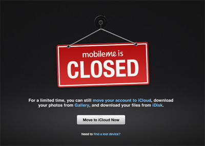 Apple's MobileMe is dead (RIP) – 01 July 2012