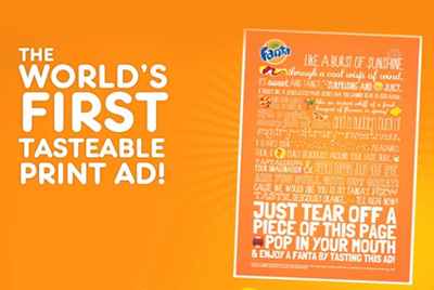 The 'World's First' Tastable Print Ad – 21 February 2013