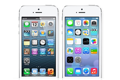 A Side-By-Side Photo Comparison Of Apple's iOS 6 And iOS 7 – 12 June 2013